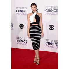 Actress #KatharineMcPhee wore a #Balmain SS15 top and FW14 skirt to the People's Choice Awards 2015 last night in Los Angeles. #BalmainArmy #Balmainiac
