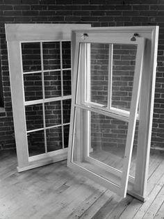 Wood Sash Window with Storm (2 over 1)