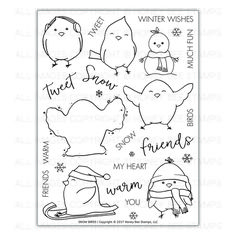 Snow Birds | 6x8 Stamp Set