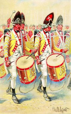 Drummers, British 10th Regiment of Foot, 1775-1783