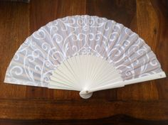 Fashionable designer hand fan Pure White  FREE by FANCYHandFans, $9.00