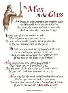 The Man In The Glass: