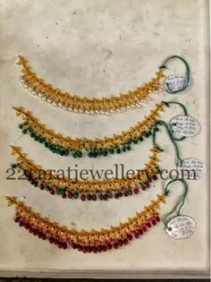Jewellery Designs: Drops Necklace Approx 20grams