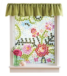 A fun #DIY project to update your home! Love this glass bead window!
