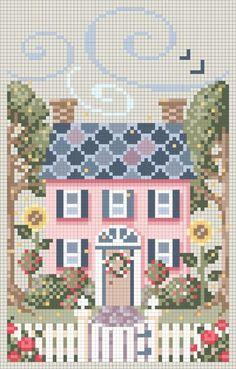 Sweet cross stitch home pattern