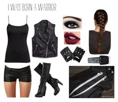 """""""Warrior outfit"""" by alexaluc13 ❤ liked on Polyvore featuring H&M, OPI, Max Factor, Tommy Hilfiger, outfit, character and MortalInstruments"""