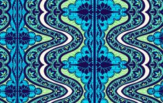 @Julie: Laminated Cotton Gypsy Cobalt by Amy Butler - Yardage. $17.00, via Etsy.