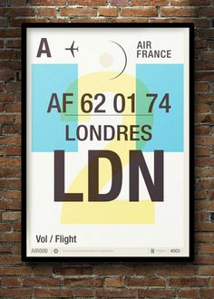UK-based illustrator and graphic artist Neil Stevens has created a series of beautiful minimalist posters that is inspired by old airline baggage tags.