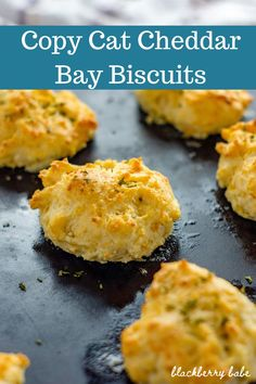 This Bisquick Cheddar Biscuits recipe is my EASY version of Cheddar Bay Biscuits! Only 4 ingredients in this easy cheddar biscuit recipe (plus spices! Easy Cheddar Biscuit Recipe, Bisquick Cheddar Biscuits, Easy Biscuits, Cheesy Recipes, Beef Recipes, Honey Roasted Pecans, Red Lobster Biscuits, Baking Stone, Appetizer Recipes
