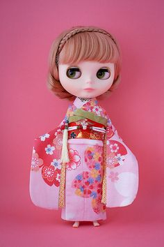 Blythe doll in kimono