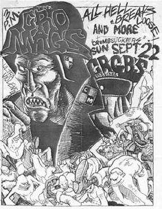 Cro-Mags, Crumbsuckers punk hardcore flyer
