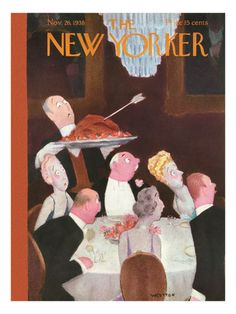 New Yorker Thanksgiving Covers Prints at the Condé Nast Collection