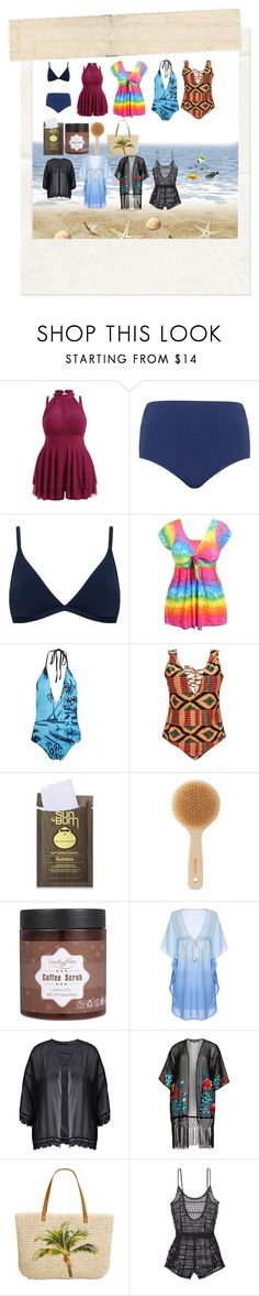 """plus size swimwear"" by live-in-the-momentum ❤ liked on Polyvore featuring Maxine Of Hollywood, Robyn Lawley, WithChic, Forever 21, Meraki, Boohoo, House of Magpie, Style & Co. and Victoria's Secret"
