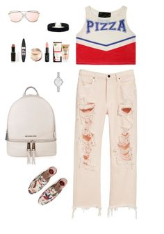 """Slipper x Cutoff Jeans"" by irisazlou on Polyvore featuring mode, Alexander Wang, Gucci, MICHAEL Michael Kors, Kate Spade, Maybelline, Garnier, NYX et Wet n Wild"