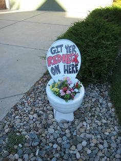 White Trash Party - house marker. Unless you have a car up on blocks in your yard, that would be even better. http://www.mybigdaycompany.com/white-trash-bash.html