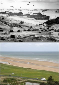 craft of all shapes and sizes crowd onto Omaha Beach on June… Battle Of Normandy, D Day Normandy, Normandy Beach, Omaha Beach, D Day Beach, Foto Poster, Modern Photographers, Historical Pictures, History Facts