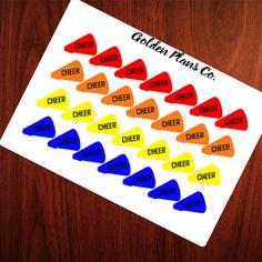 CHEER PLANNER STICKERS |Perfect For your Erin Condren, Filofax , Kiki K, Plum Paper, Carpe Diem and other planner