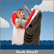 Shark attack sleeping bag.