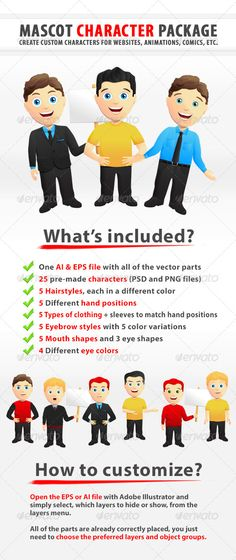 Realistic Graphic DOWNLOAD (.ai, .psd) :: http://jquery.re/pinterest-itmid-1005306976i.html ... Custom Mascot Character Creation Kit ...  angry, avatar, businessman, cartoon, character, create, creation, happy, illustration, kit, man, mascot, package, sign, smiling, suit, surprised, t-shirt, vector  ... Realistic Photo Graphic Print Obejct Business Web Elements Illustration Design Templates ... DOWNLOAD :: http://jquery.re/pinterest-itmid-1005306976i.html