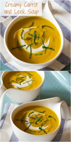 Creamy Carrot and Leek Soup