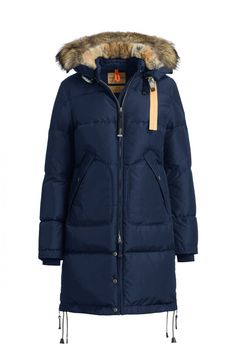 Parajumpers Women's Long Bear Coat in Marine