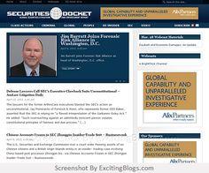 Securities Docket: - Click to visit blog:  http://1.33x.us/xwdjAW