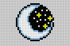 Moon Pixel Art - Minecraft World 2020 Pixel Art Pikachu, Pixel Art Kawaii, Pixel Art Anime, Pixel Art Avengers, Pixel Art Star Wars, Pixel Art Grid, Perler Bead Templates, Perler Patterns, Loom Patterns