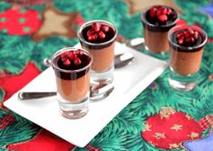 Chocolate Mousse with Pomegranate Gelatin Recipe (Dairy-Free) 50 Women Game Changers In Food Anne-Sophie Pic by Jeanette's Healthy Living Gelatin Recipes, Fruit Recipes, Real Food Recipes, Vegan Recipes, Dessert Recipes, Party Recipes, Dessert Salads, Paleo Dessert, Delicious Desserts