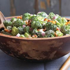 BROCCOLI SALAD. Simple and easy with raisins and sunflower seeds