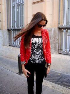 RebecayLauraStyle Outfit   Invierno 2012. Combinar Chaqueta-Cazadora Rojo oscuro queens wardrobe, Cómo vestirse y combinar según RebecayLauraStyle el 4-10-2012