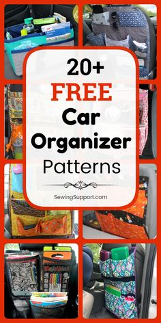 Sew diy organizers for your car.Sew diy organizers for your car. Over 20 free samples, tutorials and DIY projects for auto organizers. Sew a fabric car seat organizer Small Sewing Projects, Sewing Projects For Beginners, Sewing Hacks, Sewing Tutorials, Sewing Tips, Diy Projects, Sewing Ideas, Sewing For Kids, Sewing Crafts