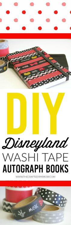 DIY Disney World/Disneyland Washi Tape Autograph Books