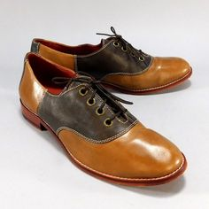 Cole Haan Ladies Leather Saddle Shoes, Burnt Sienna & Brown, Women's Size 8B #ColeHaan #SaddleShoes #Casual