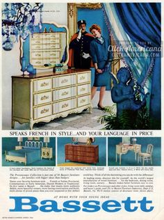 Provencaux Bedroom Furniture From Bassett (1964