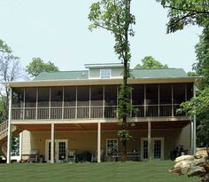 What a wonderful screened porch! Rear view of Plan 016D-0054 | House Plans and More
