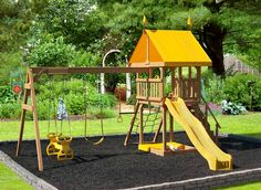 swing sets | Childish Glee Swing Set • Play Mor Wooden Swing Sets • Playsets
