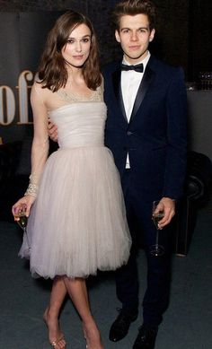 Keira Knightley Admits Shes Destroyed Her Chanel Wedding Dress - Chanel Dresses - Trending Chanel Dress for sales - Kiera Knightly with her hubby rocking her wedding dress at a charity event. Keira Knightley Style, Keira Christina Knightley, Keira Knightley Wedding Dress, Keira Knightley Husband, Celebrity Wedding Dresses, Celebrity Weddings, Celebrity Style, Chanel Wedding Dress, Chanel Dress
