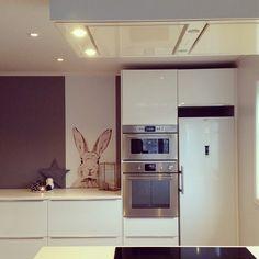 Groovy Magnets Rabbit in the kitchen. Good idea.  (Instagram)
