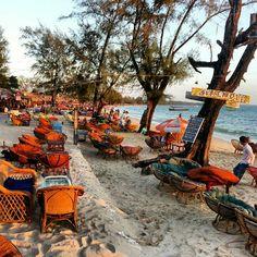 Seats at Serendipity beach- Sihanoukville