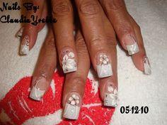 Bridal..+French+tip+by+Claudia_Yvette+-+Nail+Art+Gallery+nailartgallery.nailsmag.com+by+Nails+Magazine+www.nailsmag.com+#nailart
