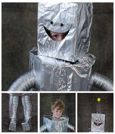 ¿Cómo hacer un disfraz de robot para niños?
