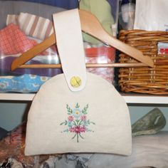 Vintage linen made into a bag
