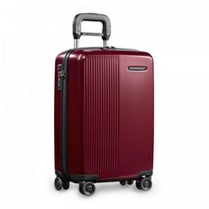 Briggs and Riley Expandable Carry-On Spinner – Sympatico Collection. Equipped with patented CX™ Compression-Expansion Technology to offer up to more packing space than your average carry-on spinner, the Sympatico Expandable Carry-On takes the stre Briggs And Riley, Luggage Rack, Luggage Suitcase, Spinner Suitcase, Combination Locks, Marine Blue, Light Photography, Travel Essentials, Zipper Pouch