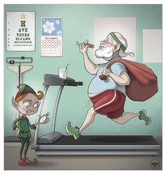 Santa Claus in the Gym