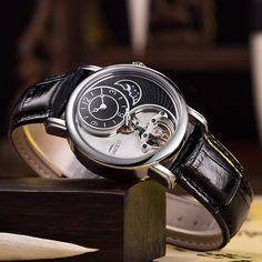 c6492856a30 TEMPO 100 Mens Relógios De Luxo Relógio Relógio Mecânico Automático Homens  de Negócios À Prova D