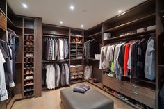Men's walk-in closet