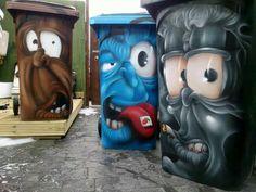 Garbage bin art