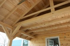Image detail for -Hemlock Porch Timbers with Loft Above