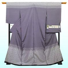 お仕立て込:夏着物 もじり織 紗訪問着【紫に水玉】