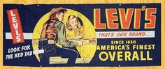 Levi's in-store and outdoor advertising denim banner, Late